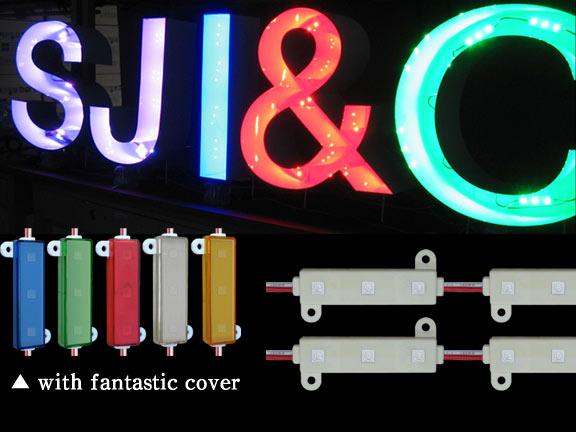 LED Module (3bulb Mono Color: White, Red, Green, Blue)
