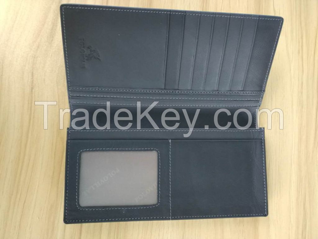 Fashion men genuine leather high quality wallet and card holder