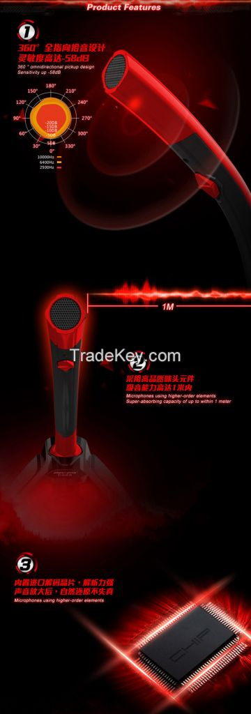 Coolcold Gaming Console computer condenser usb wired microphone