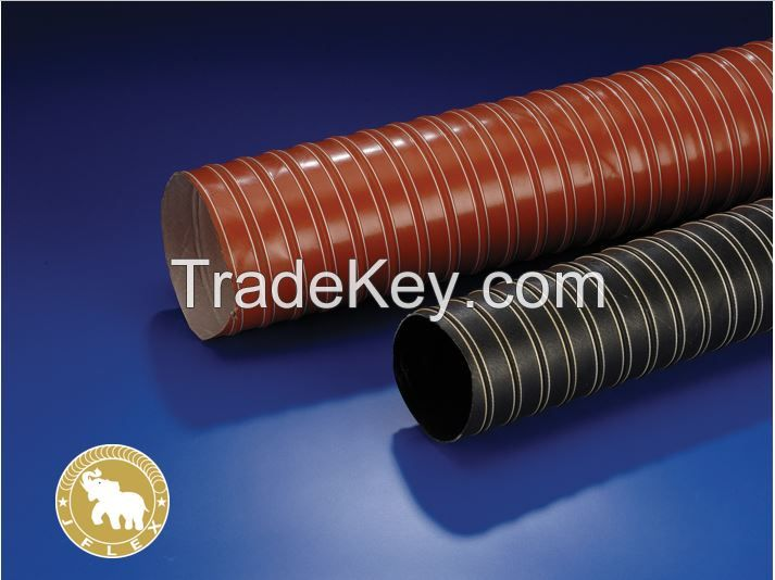 Silicone 2 ply hose for high temperature air