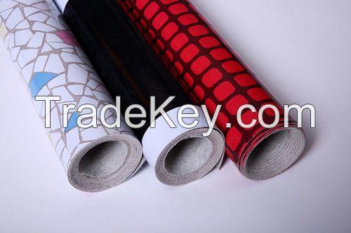 PVC sheet flooring with non-woven