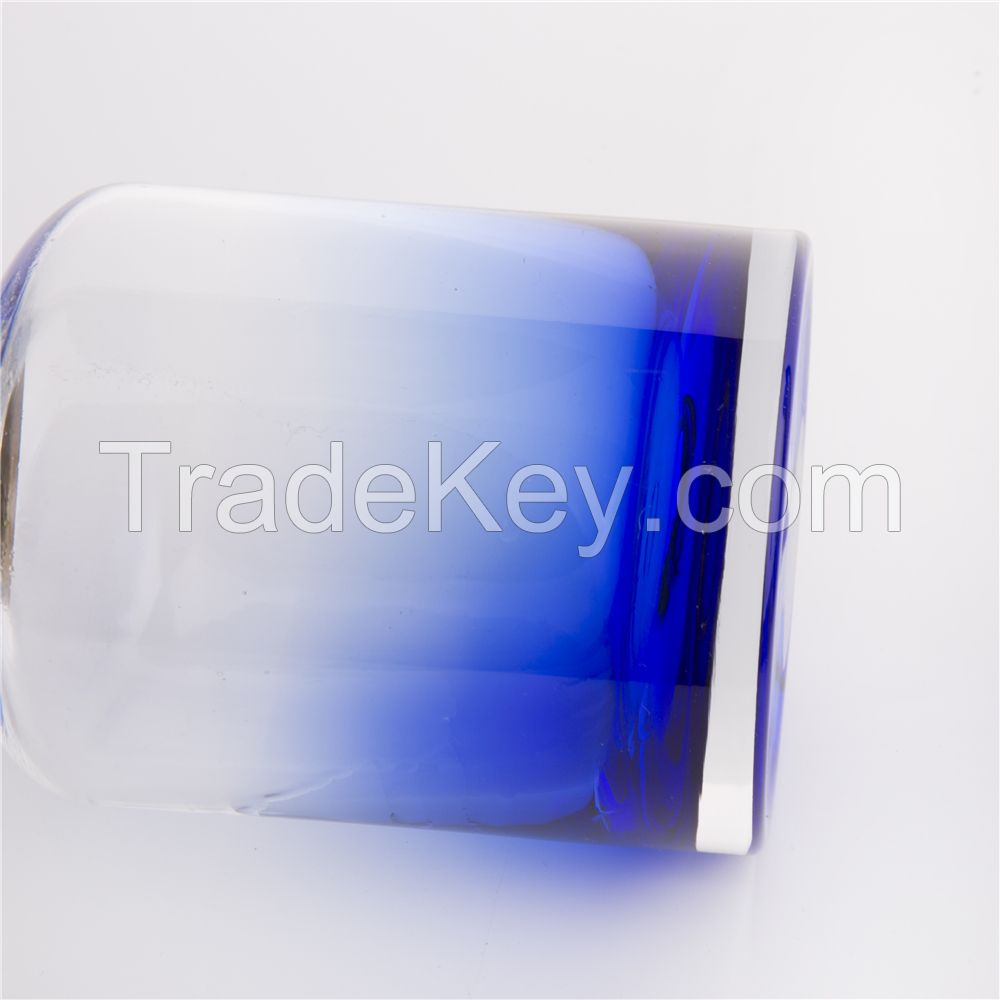 Decoration 805g blue colorful simple style import glass vase