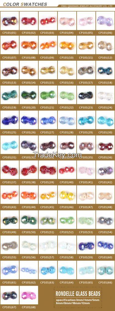 Crystal glass beads