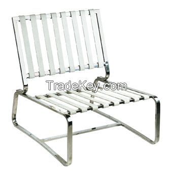 SHIMING FURNITURE MS-3101 Barcelona Chair and ottoman stainless steel frame
