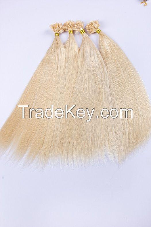 100% Human Remy U-tip/nail hair extensions