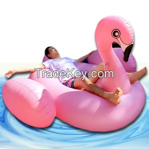 Giant Party Tube Inflatable Animal Raft Pink Inflatable Flamingo Float