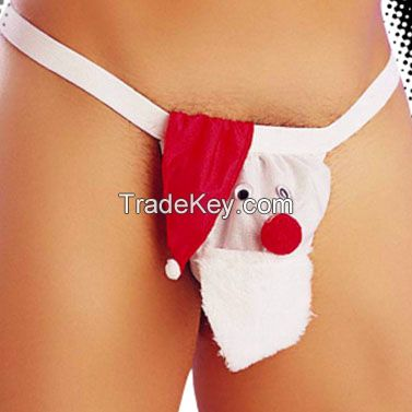 OEM Sexy adult underwear men's pouch Thong Chirstmas Halloween