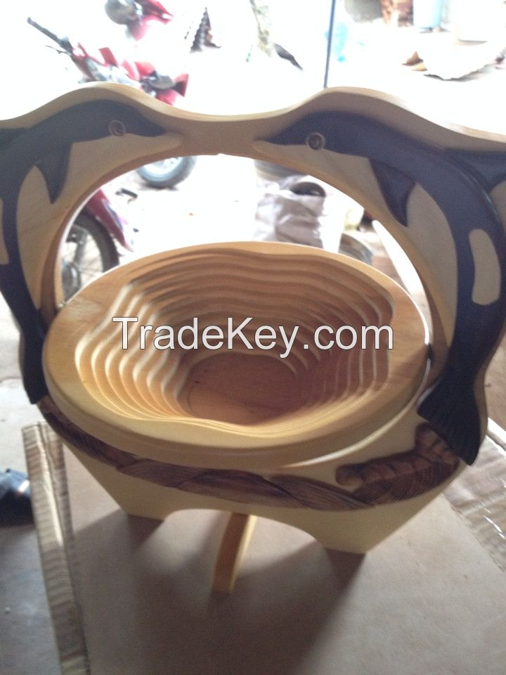 Wooden Fruit Basket Craft - Animal shape