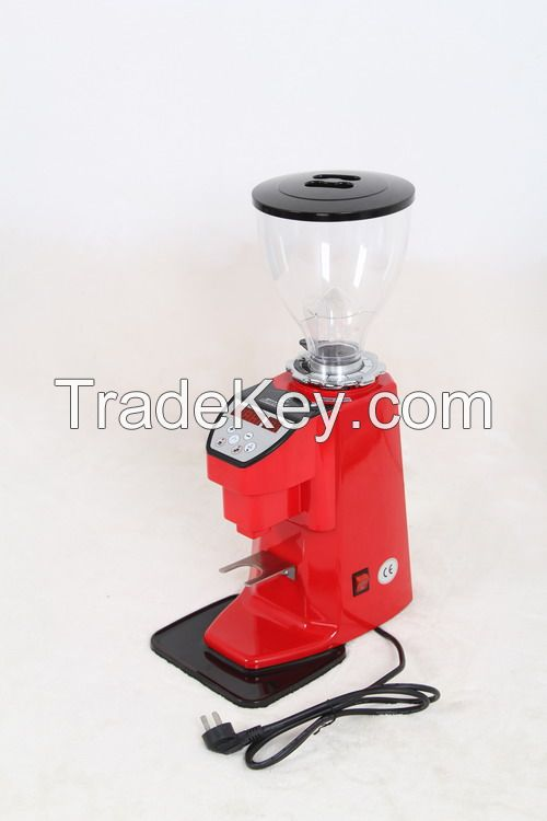 Red Electronic Commercial Coffee Grinder