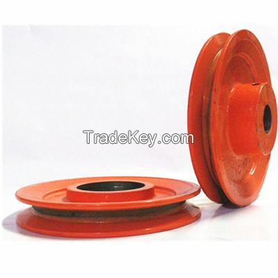 China customized oem cast iron belt pulley for ceramic mechanical parts
