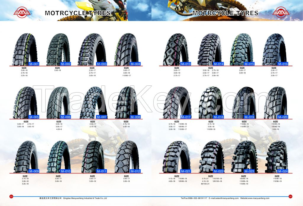 All size motorcycle tire scooter tire and tube made in China