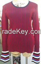 Ladies' 70% Rayon 30% Nylon Knitted Pullover
