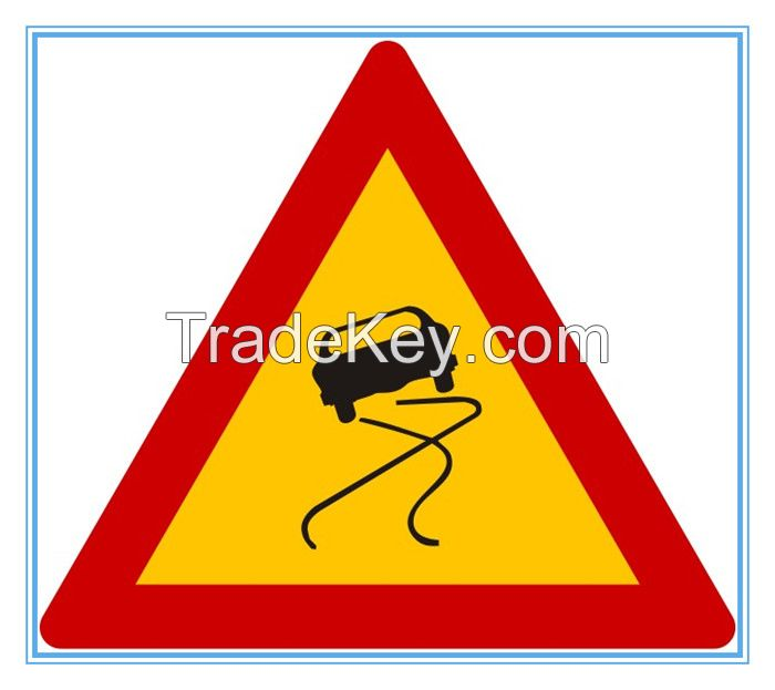 Greece road traffic warning sign, Greece road traffic warning signal