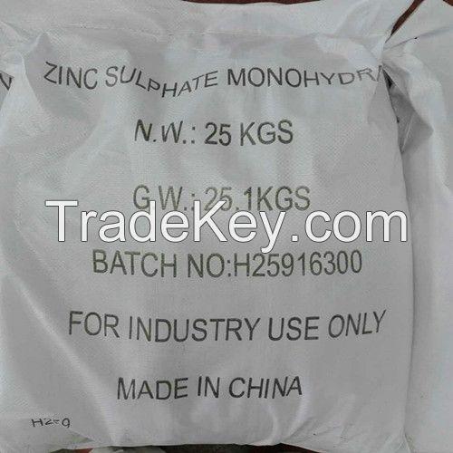 Zinc Sulphate Monohydrate Pwder Industrial Grade