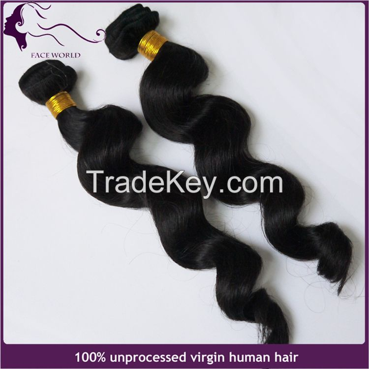 Faceworld hair wholesale loose wave human hair weft