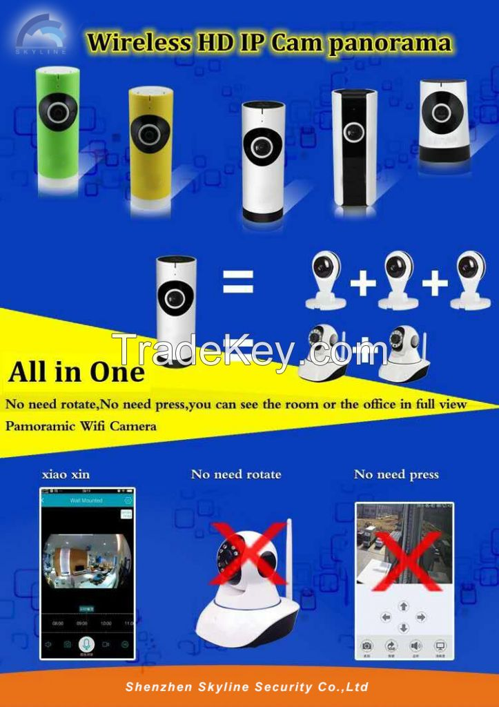 Wholesale Factory Direct Sale 720P 1.0 Megapixel 180 degree Panoramic cctv wireless camera price