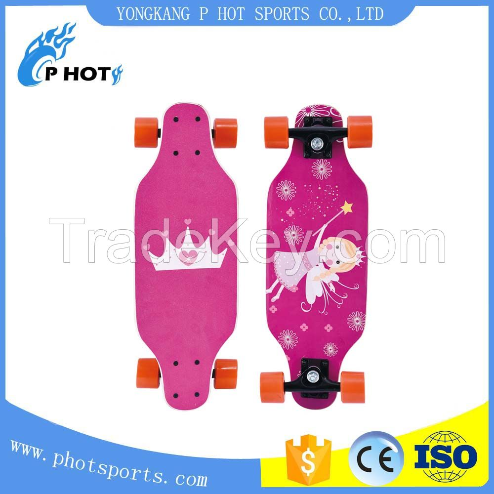 chinese maple mini longboard hot selling skateboard