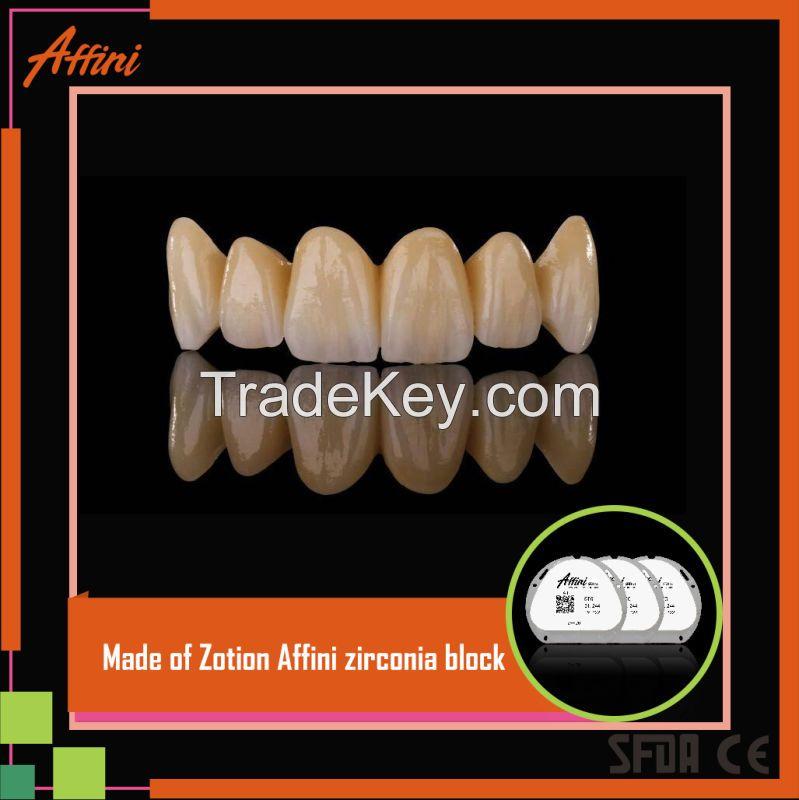 Zotion professional dental manufacturer ceramic CAD/CAM zirconia block