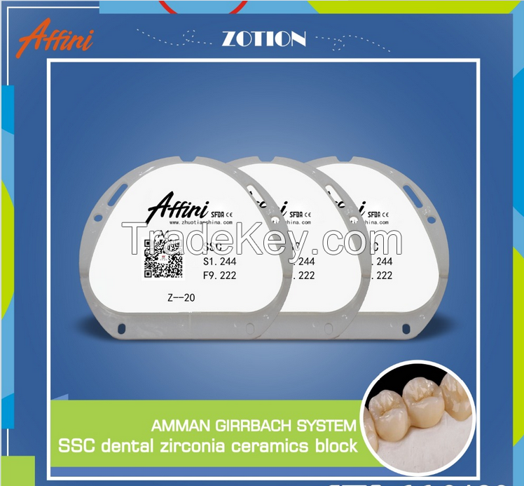 Dental zirconia block/CAD CAM milling system for dental product