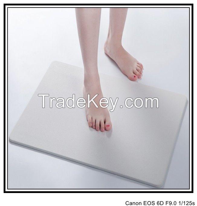 Super comfort feet drying inorganic vermiculite bath mat