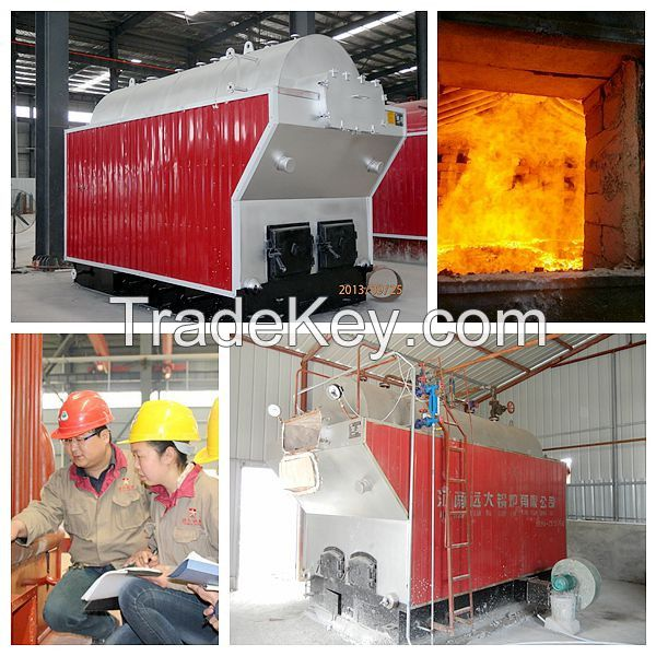 Manual DZH coal fired steam boiler factory price