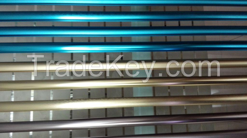 Anodized aluminum profile in colors