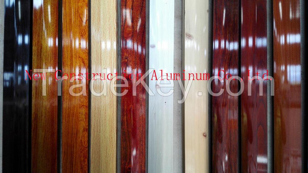 Wood Grain Aluminum Profiles Available