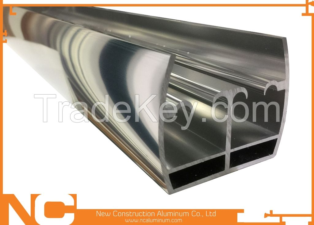 Chemical polishing profile/bright dipping/bright dipped/shower room profile/photo frame profile