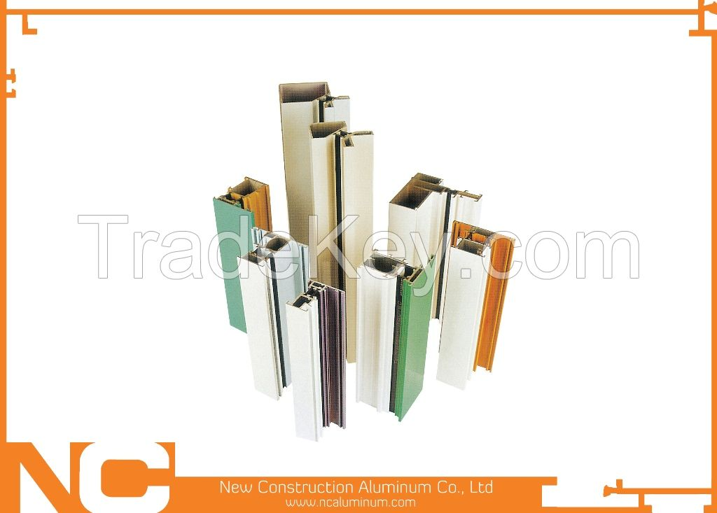 High Quality Powder coated Aluminum profile