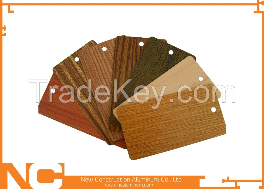 Wood grain aluminum profile