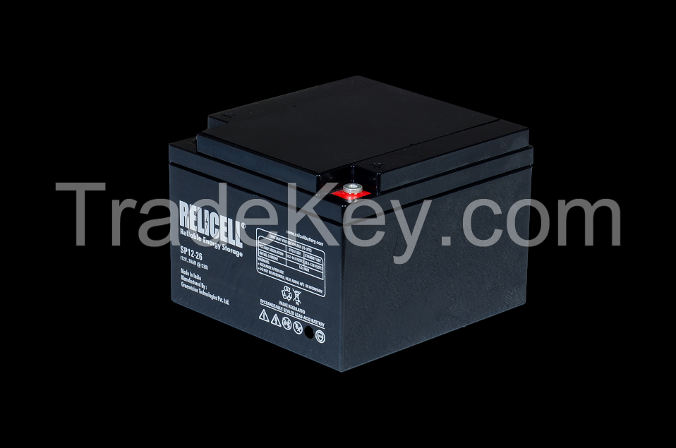 Relicell Maintenance Free UPS Battery 12V 7AH, 7.5AH, 9AH, 12AH, 18AH, 26AH, 42AH, 65AH, 75AH, 100AH, 120AH, 150AH, 200AH, 220AH, 240AH