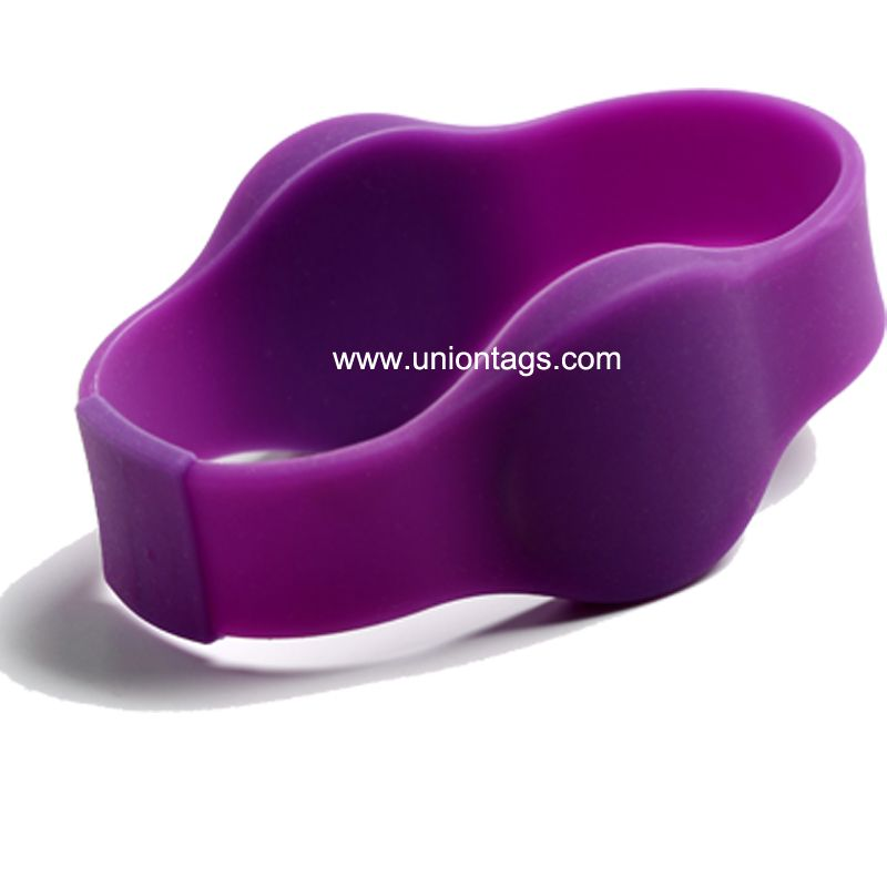 125khz Adjustable Colorful TK4100 Silicone Active Rfid Wristband