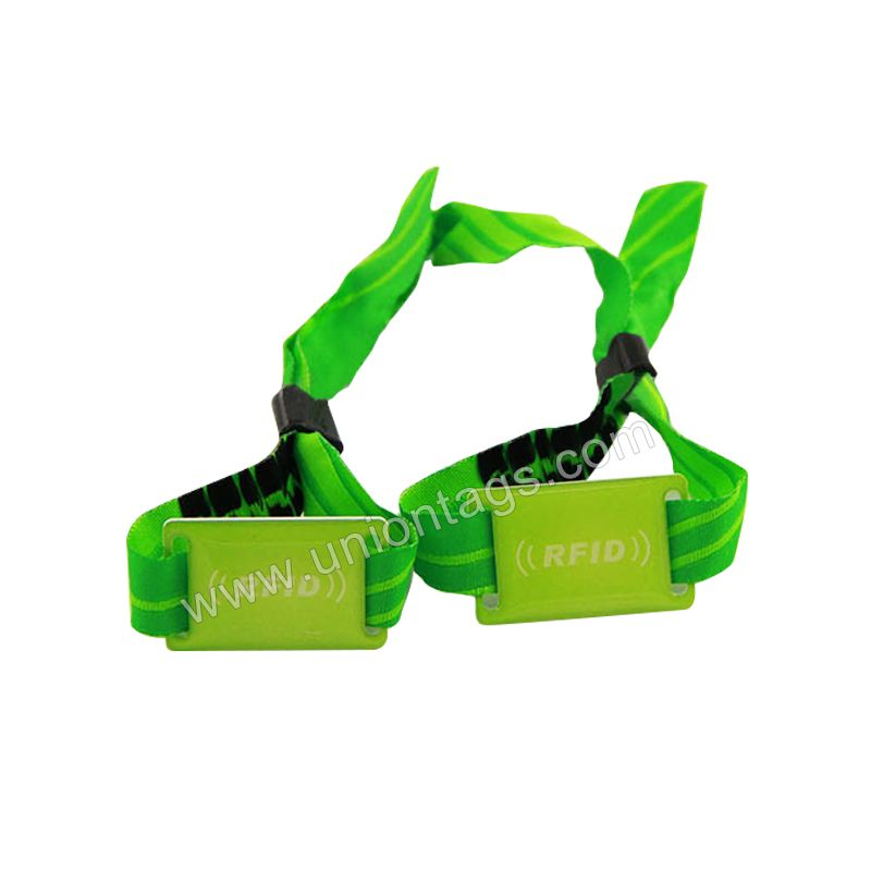 New design widely use event rfid woven wristband  with epoxy tag