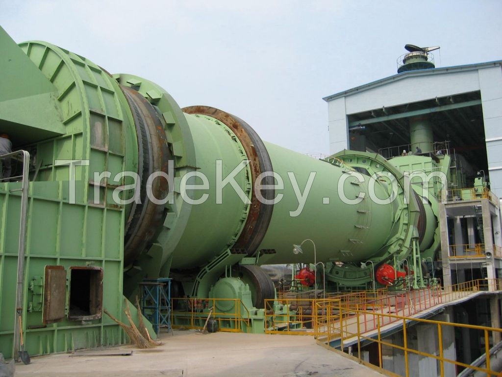 Dry processing large size cement kiln of rotary type