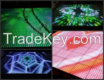 LED light weight display screen carpet brick dance floor lighting