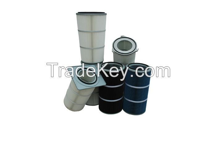 Cartridge air filter industrial air filter high efficiency