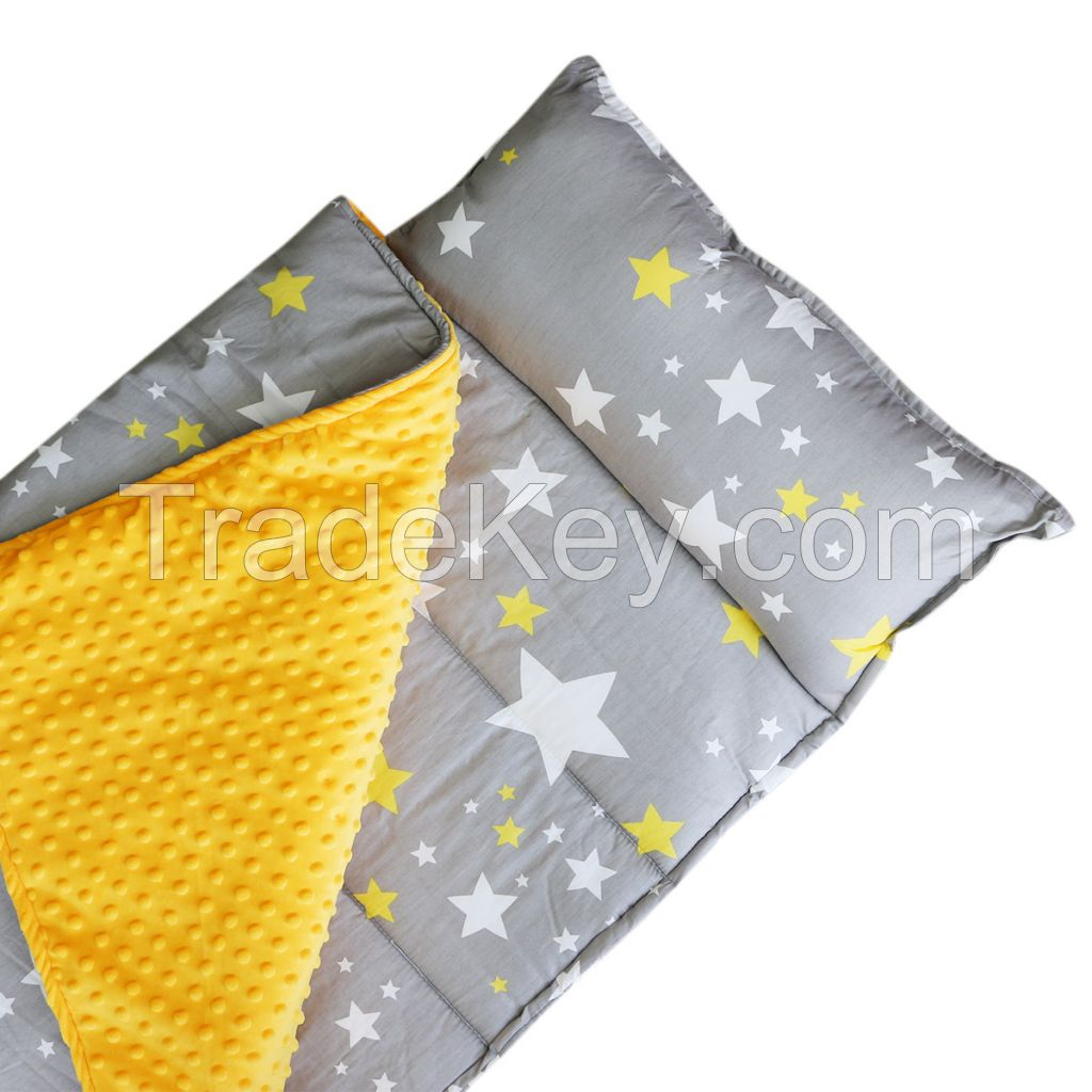 Gray Star Printed Folding Kids Nap Mats for Daily Life