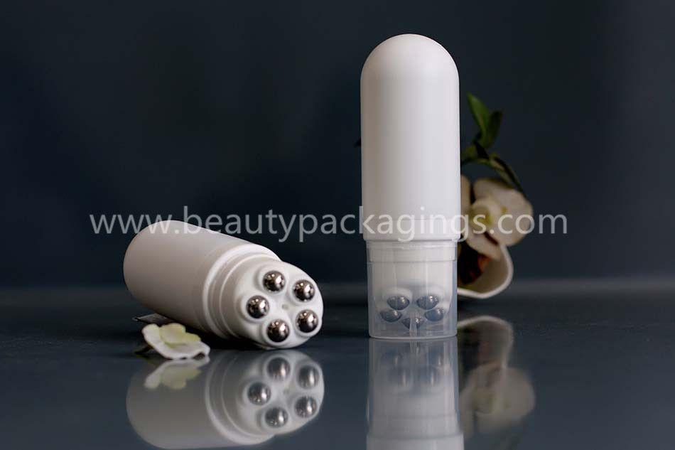Five Roller Ball Massage Applicator Plastic Facial Cosmetic Tube Bottle
