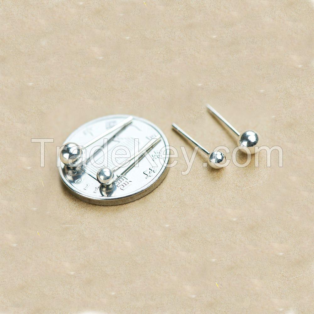 Dormy Story 925 Sterling Silver Women Round Stud Earrings Modern Sleek Metal