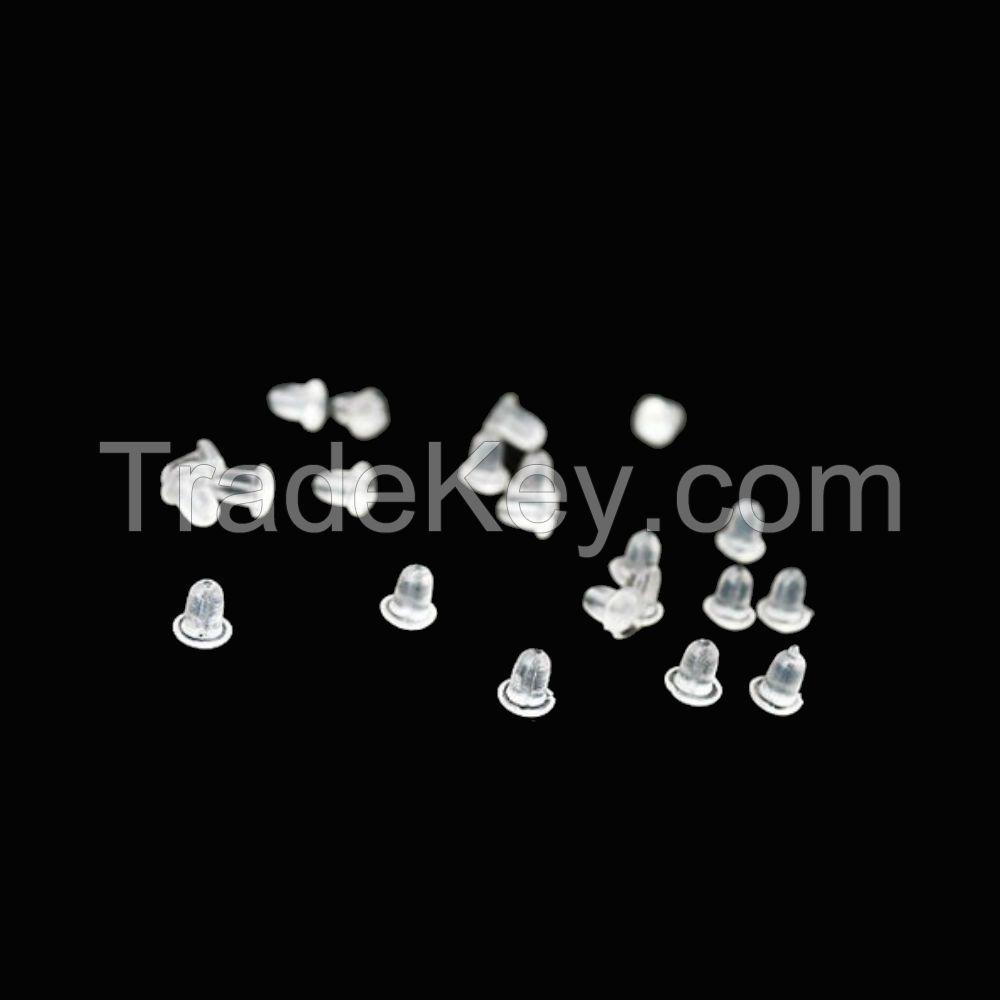 50 pcs plastic earnuts earring backs stoppers jewelry findings
