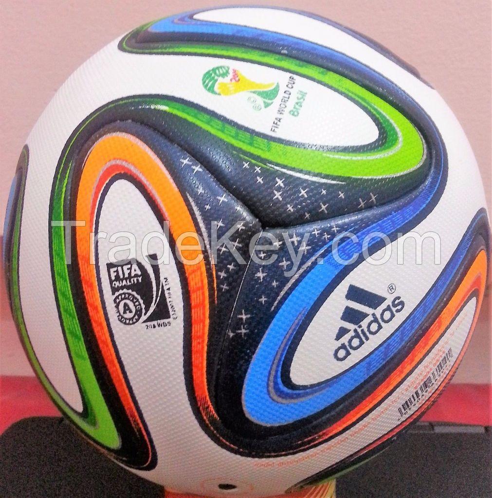 ADIDAS BRAZUCA OFFICIAL MATCH FINAL FIFA WORLD CUP-2014 RIO, BRASIL 6 PANEL SOCCER BALL-SIZE 5
