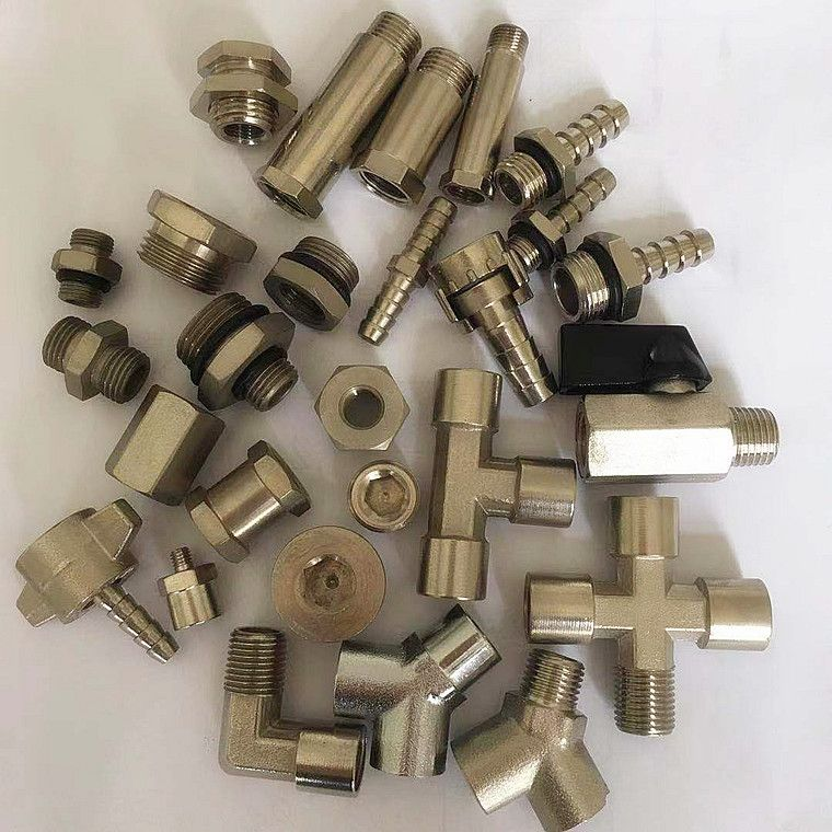 nickel plated brass air connectors , pneumatic fitting , brass fitting