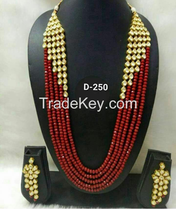 imitation jewellery, earrings, necklaces