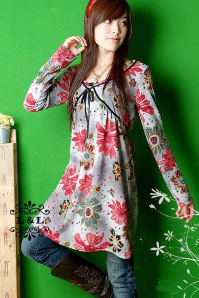 Fashionable Flower Print