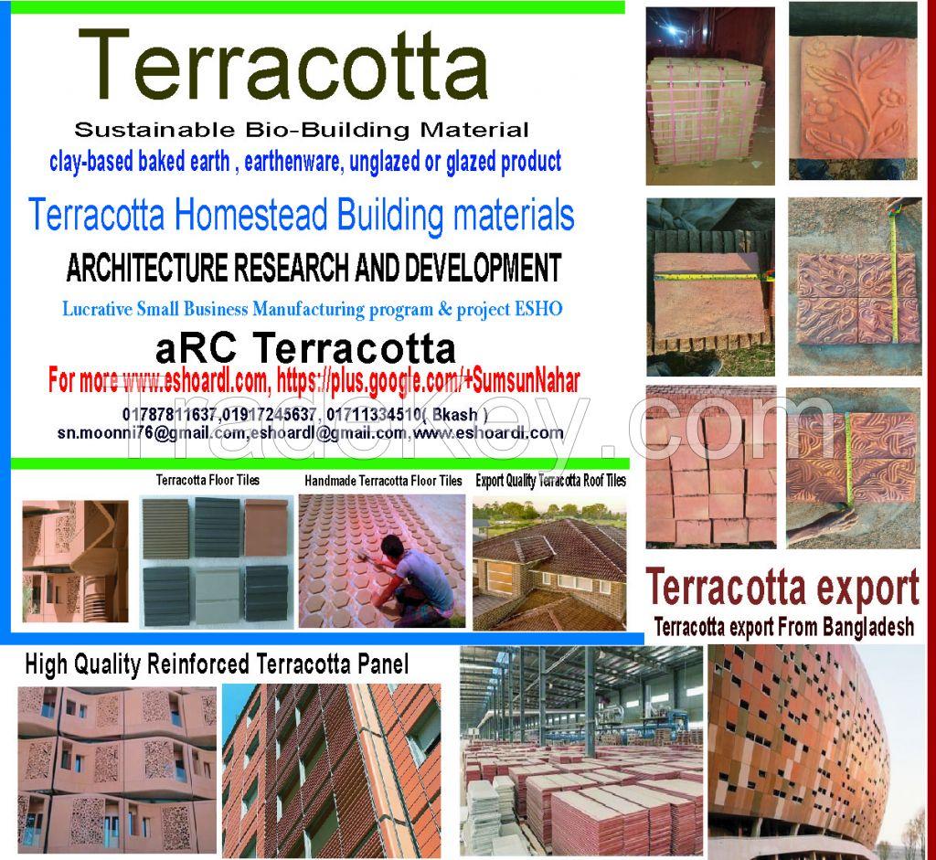 TERRACOTTA HANDMADE 300 x300 x20 FLOOR TILES
