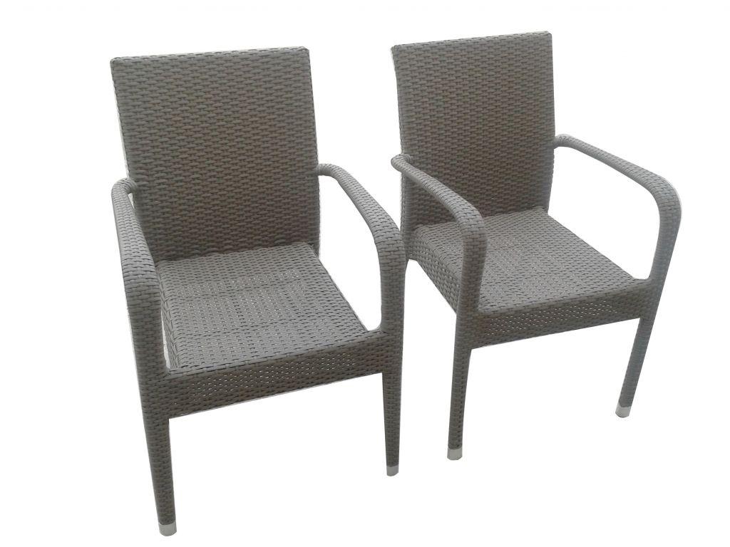 Outdoor Garden Furniture Stackable Dining Rattan Chair (K12)