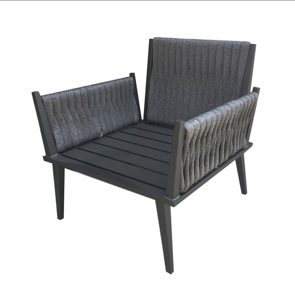 Outdoor Aluminum Furniture Rope Weaving Hotel Sofa Chair Garden Furniture (S56)