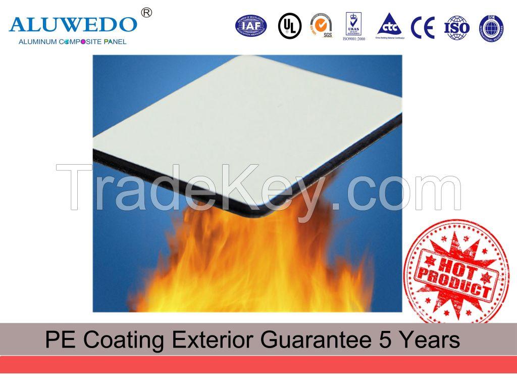 4MM 1220mmx2440mm PVDF Fire-resistant Aluminum Composite Panel Exterior Wall Cladding Panel ACP ACM Decorative Building material
