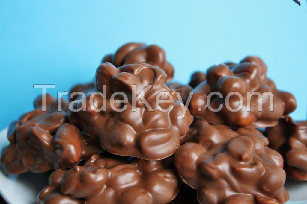 Milk Chocolatey Covered Peanut Cluster