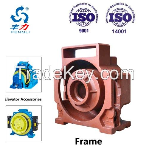 Disa Production Line Custom Make Iron Casting for Elevator Traction Machine